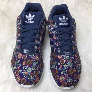 adidas Shoes - ADIDAS ZX Flux Torsion navy floral print sneakers 1339df289